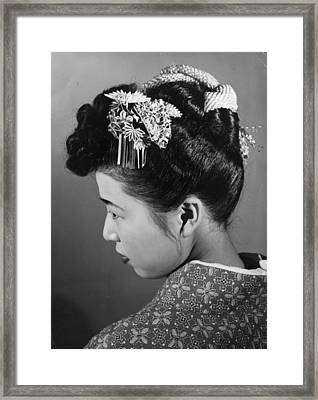 Hair Ornament Framed Print by Central Press