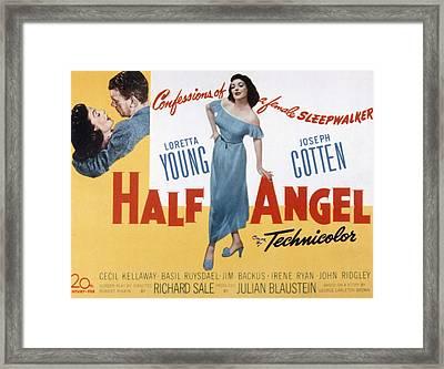 Half Angel, Joseph Cotten, Loretta Framed Print by Everett
