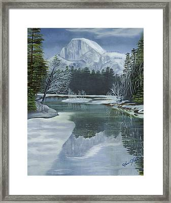 Half Dome Reflections Framed Print by Lana Tyler