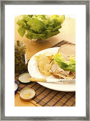 Half Made Sandwich Framed Print by Karyn R. Millet