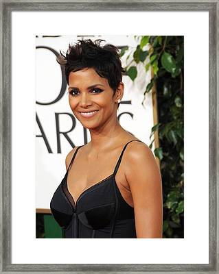 Halle Berry At Arrivals For The Framed Print by Everett