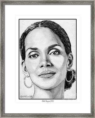 Halle Berry In 2008 Framed Print by J McCombie
