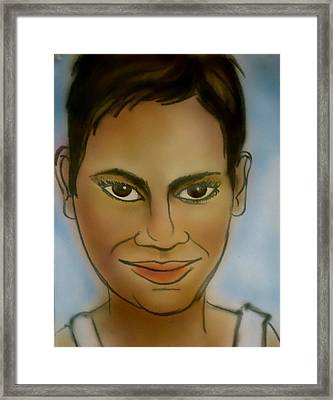 Halle Berry Framed Print by Pete Maier
