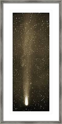 Halley's Comet In May 1910 Framed Print by Detlev Van Ravenswaay