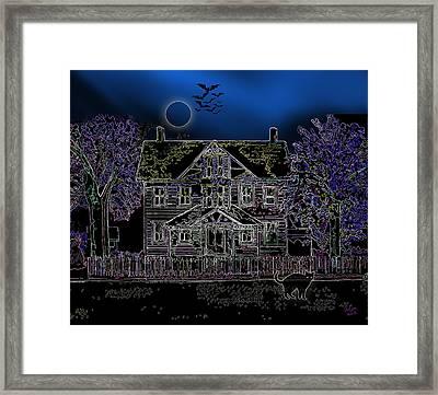Halloween Haunt Framed Print by Clara Sue Beym