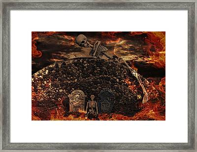 Halloween Horror Framed Print by Maria Dryfhout