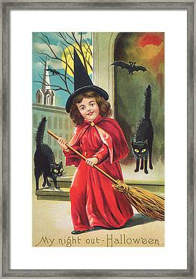 Halloween Night Out Framed Print by Hulton Archive