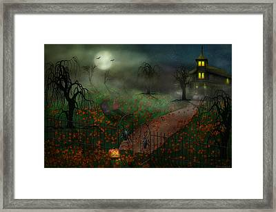 Halloween - One Hallows Eve Framed Print by Mike Savad