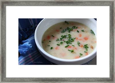Ham And Potato Soup Framed Print by Anne Babineau