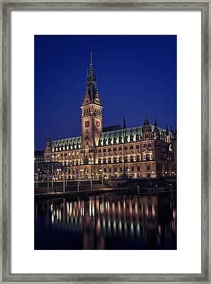 Hamburg City Hall Framed Print by Benjamin Matthijs