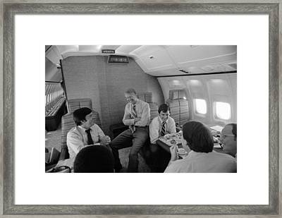 Hamilton Jordan Jimmy Carter And Other Framed Print by Everett
