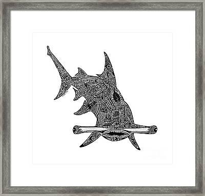Hammerhead Shark Framed Print by Carol Lynne