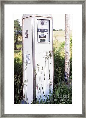 Hand Crank Gas Pump Framed Print by Thomas R Fletcher
