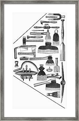 Hand Tools, 1876 Framed Print by Granger