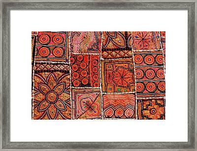 Handicraft Fabric Art Framed Print by Milind Torney