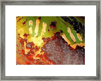 Hands On Iron Framed Print by Ken McBride