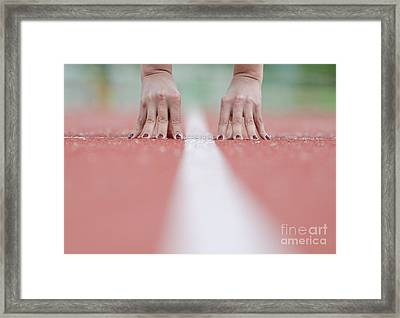 Hands On The White Line Framed Print by Mats Silvan