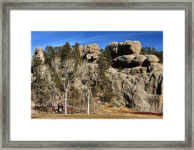 Hang A Left At The Rock Framed Print by Lynne and Don Wright