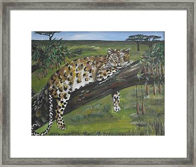 Hangin' Out Framed Print by Kim Selig