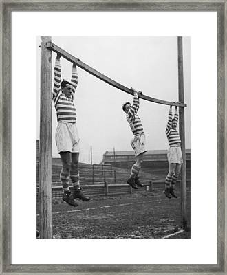 Hanging At Halifax Framed Print by John Waterman
