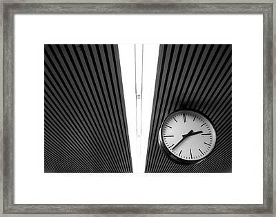 Hanging Clock Framed Print by Christoph Hetzmannseder