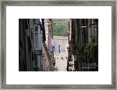 Hanging Out In Dubrovnik Framed Print by Barry Luroe