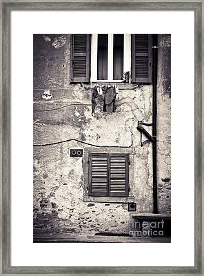 Hanging Out To Dry Framed Print by Silvia Ganora