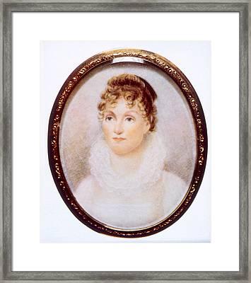 Hannah Van Buren 1783-1819, Wife Framed Print by Everett