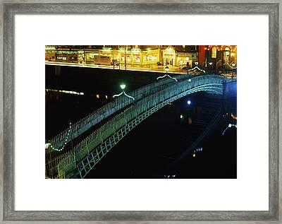 Hapenny Bridge, Dublin City, Co Dublin Framed Print by The Irish Image Collection