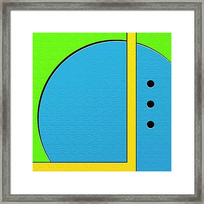 Happily Framed Print by Ely Arsha