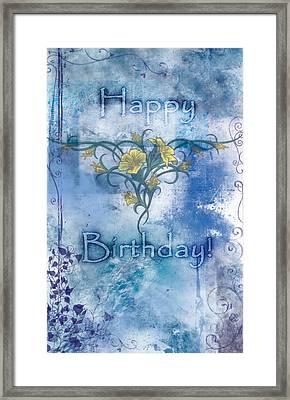 Happy Birthday - Card Design Framed Print by Christopher Gaston