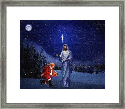 Christs Birthday Framed Print featuring the painting Happy Birthday by CDK Surrett