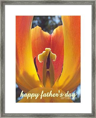 Happy Father's Day Framed Print by Tina Marie