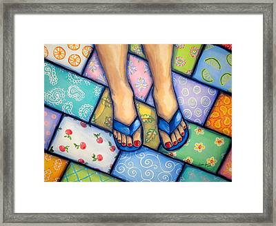 Happy Feet Framed Print by Sandra Lett