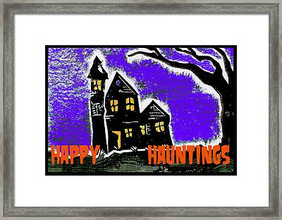 Happy Hauntings Framed Print by Jame Hayes