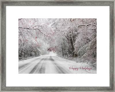 Happy Holidays - Clarks Valley Framed Print by Lori Deiter