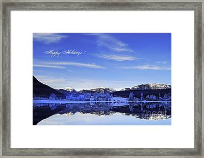 Happy Holidays Framed Print by Sabine Jacobs