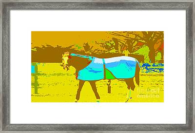 Happy Horse Pop Art Framed Print by Artyzen Studios