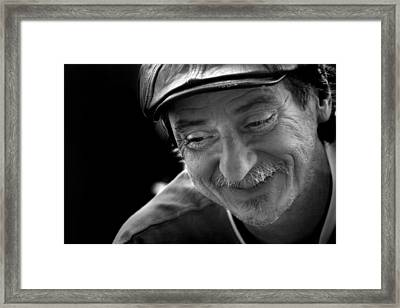 Happy Man Framed Print by Kelly Hazel