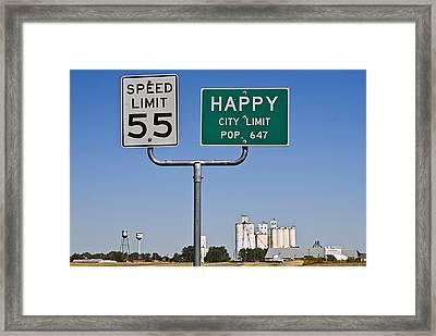 Happy Framed Print by Melany Sarafis