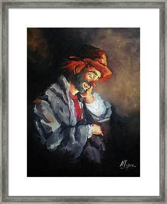 Happy While He Dreams Framed Print by Natalia Tejera