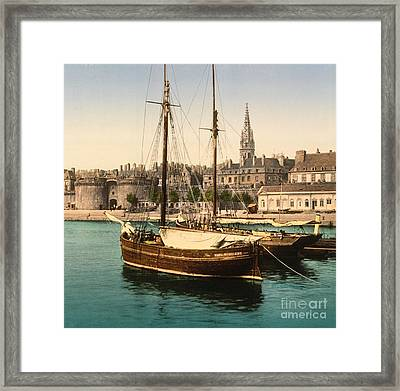Harbor At St. Malo Framed Print by Padre Art