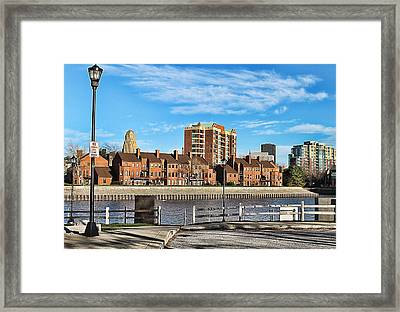 Harbor Side Framed Print by Peter Chilelli