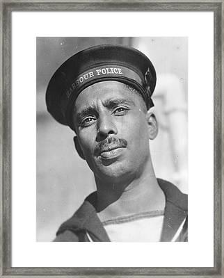 Harbour Policeman Framed Print by Keystone