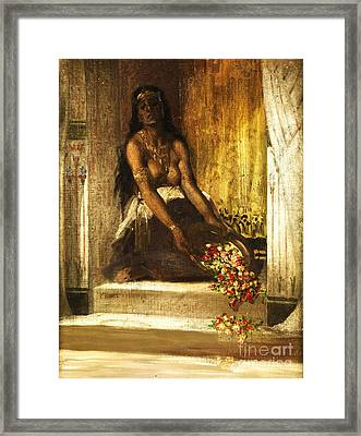 Haremsdame Framed Print by Pg Reproductions