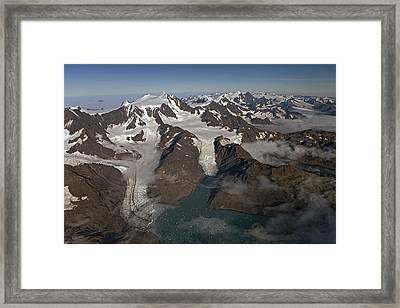 Harker And Hamberg Glacier Framed Print by Ingo Arndt