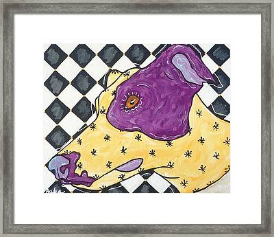Harlequin Greyhound Framed Print by Audra Sampson