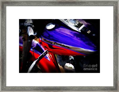 Harley Addiction Framed Print by Susanne Van Hulst