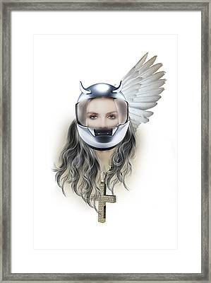 Harley Davidson Woman Framed Print by Mark Ashkenazi