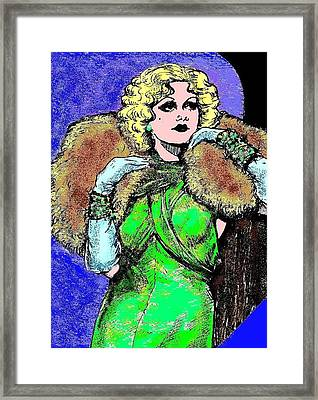 Harlow In Color Framed Print by Mel Thompson